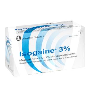 Product - ISOGAINA 3% AZUL (MEPIVACAINA)