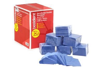 Product - SERVILLETAS 30X30 AZUL 2 CAPAS