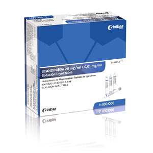 Product - SCANDINIBSA 2% FORTE MORADA 1:100.000 (MEPIVACAIMA)